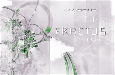 Montage avec fractale, réalisé avec les logiciels : The Gimp, Paint.NET et PhotoFiltre.